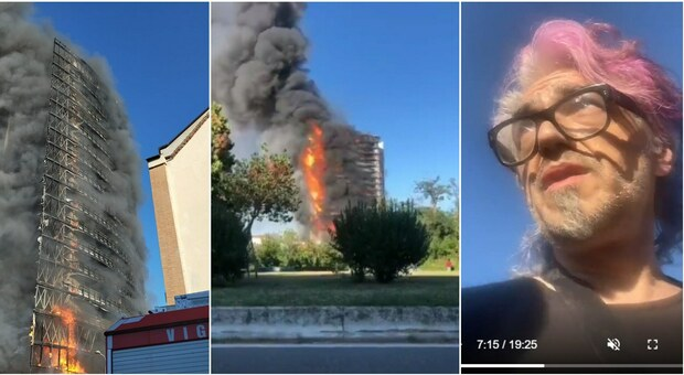 Incendio palazzo a Milano, Morgan si improvvisa reporter su Instagram: «L'inferno in diretta, eravamo nella casa accanto»