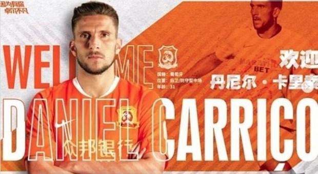 Daniel Carrico lascia i Daniel Carrico lascia il Siviglia e va al Wuhan Zalll Siviglia e va al Wuhan Zall