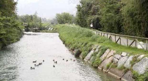 La ciclabile lungo il fiume Meschio