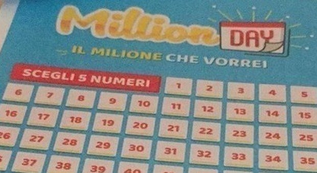 Million Day, numeri vincenti di oggi sabato 14 settembre 2019