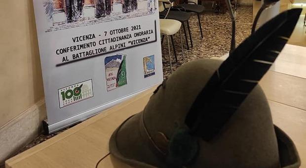 """Il 9 ottobre in piazza dei Signori il battaglione alpini """"Vicenza"""" riceverà la cittadinanza onoraria"""