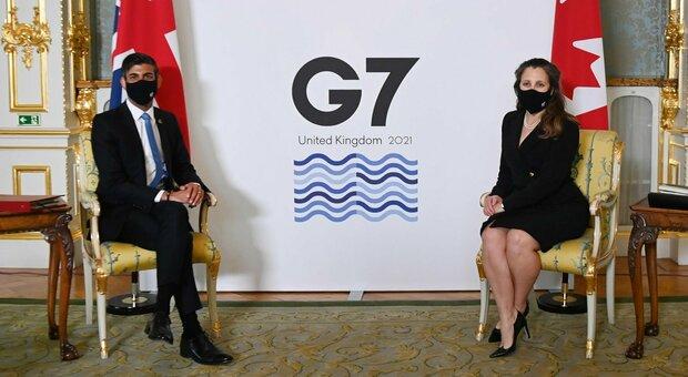 Fisco, accordo al G7: tassa minima globale per le imprese al 15%
