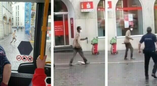 Germania, accoltella passanti in strada: almeno 3 morti e 6 feriti. L'aggressore colpito ad una gamba e neutralizzato