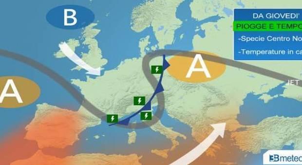 Arriva il maltempo, scatta l'allerta al nord. Temporali a Firenze, in Piemonte e in Liguria