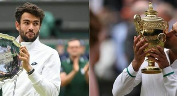 Djokovic-Berrettini 3-1 (6-7, 6-4, 6-4, 6-3): il serbo conquista Wimbledon e il 20° Slam