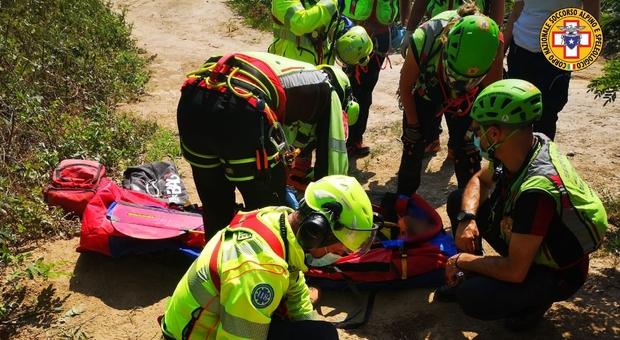 Incidente in mountain bike sul sentiero di Monte delle Valli: ferito un 35enne di Arzegrande