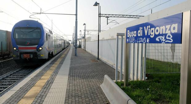 Treno alla stazione di Busa di Vigonza (foto di repertorio)