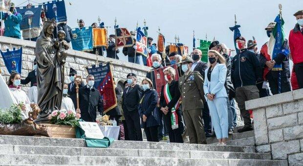 La cerimonia sul monte Grappa