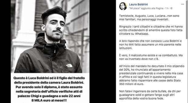 Laura Boldrini e il nipote assunto alla Camera: la bufala su Whatsapp, e lei si infuria su Facebook