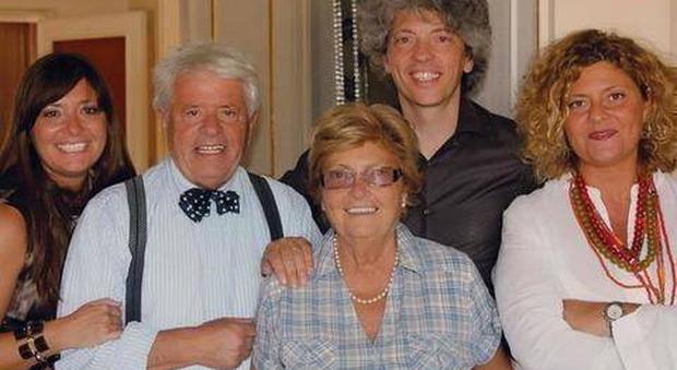 Lino Toffolo con la famiglia