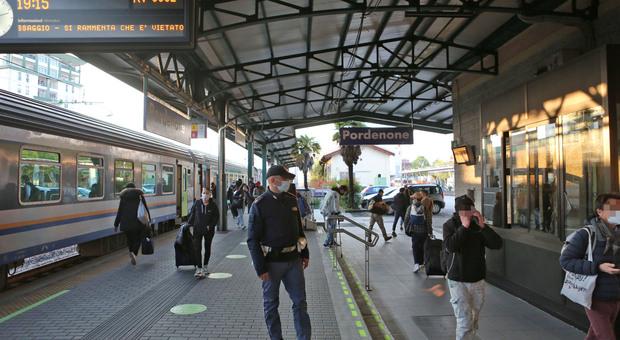 Stazione blindata a Pordenone