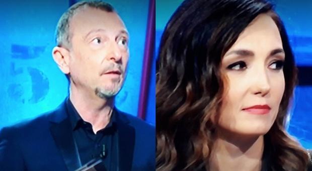 """I Soliti Ignoti, Caterina Balivo """"protesta"""" in diretta: «No, questo no». Amadeus reagisce così"""