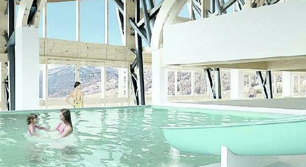 Come sarà la piscina di Guargnè nei disegni progettuali