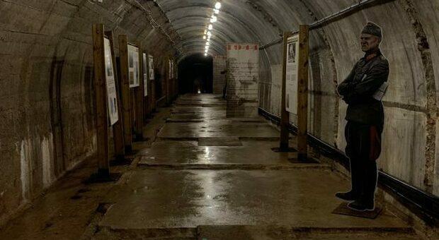 Una zona visitalile del bunker (foto da bunker-recoaro.it)