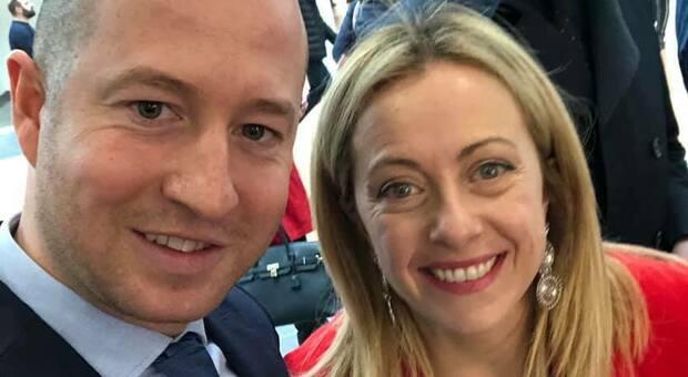 Un selfie di Naclerio al Vinitaly con Giorgia Meloni