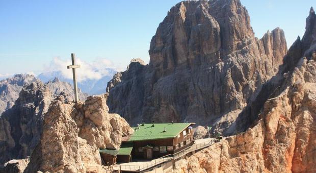 Il rifugio Lorenzi sul Monte Cristallo
