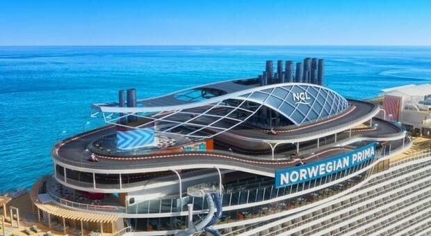 Crociere, dal 2022 debutta la pista da go-kart più grande del mondo su una nave: è lunga 420 metri