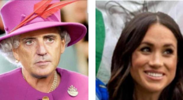 """Italia-Inghilterra, da Mancini """"regina"""" a Meghan Markle che sventola il tricolore, la rivincita social: «Brexit is Brexit»"""