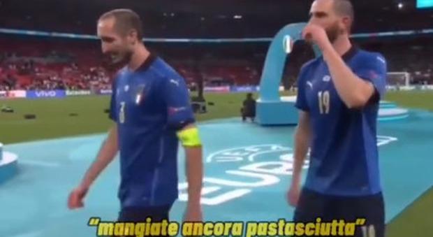 Italia campione d'Europa, Bonucci urla in campo agli inglesi: «Dovete mangiare ancora tanta pastasciutta»