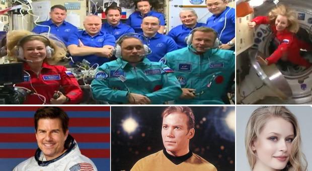 Tom Cruise, volano nello spazio prima di lui l'attrice russa Yulia Peresild e il capitano Kirk