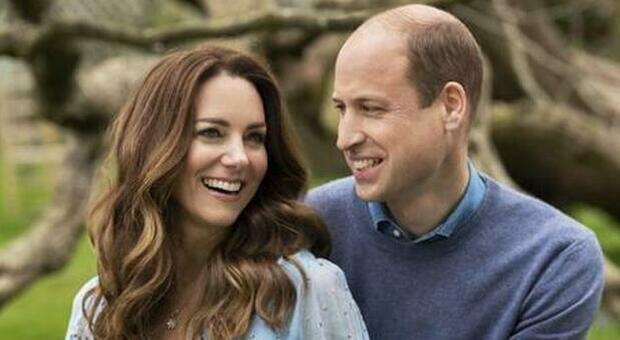 Il principe William e Kate Middleton (Ansa)