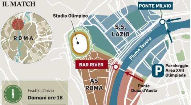 Lazio-Roma, Olimpico blindato: allerta per i no Green pass, il piano traffico