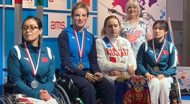 Bebe Vio medaglia d'oro alla Coppa del Mondo di scherma paralimpica