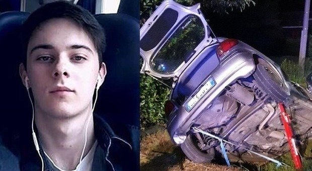 Christian Barzan e l'auto incidentata