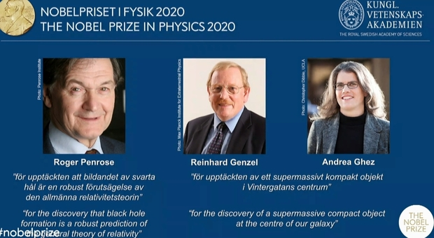 Nobel per la fisica 2020 a Penrose, Genzel e Ghez: i teorici dei buchi neri