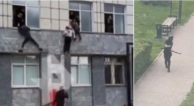 Russia, uomo spara all'università di Perm. «Morti e feriti», ragazzi si gettano dalle finestre