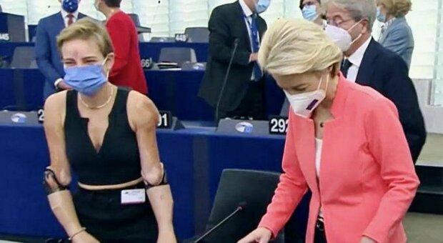 Bebe Vio al parlamento europeo