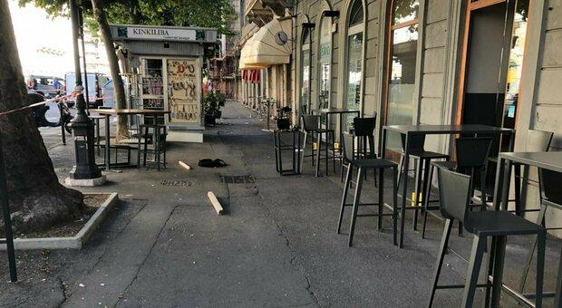 Il bar della sparatoria a Trieste