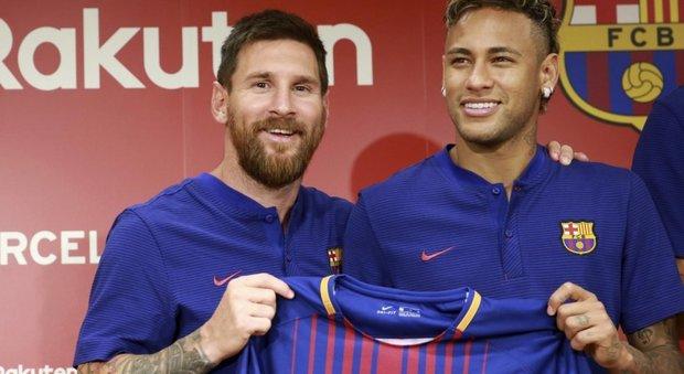 Neymar, su Twitter il saluto di Messi