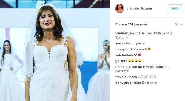 """Vladimir Luxuria sposa in abito bianco: """"Bisogna essere liberi di sposarsi"""""""