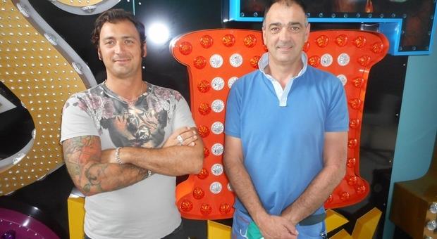 Riccardo e Giorgio Cuoghi della ditta Lights Co di Bergantino