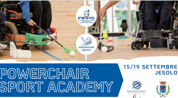 Powerchair Academy, progetto federale dell'hockey in carrozzina nella 4 giorni di Jesolo