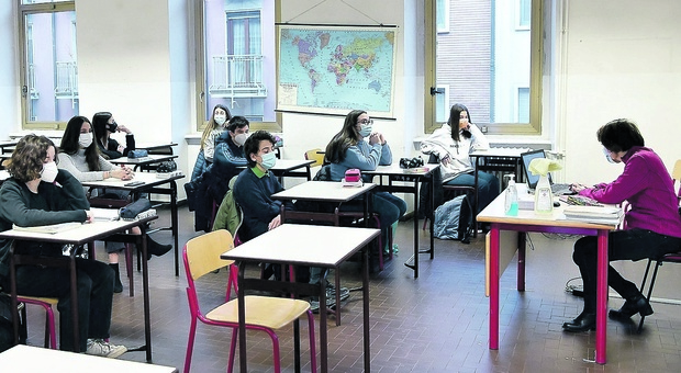 Rientro in classe (foto di repertorio)