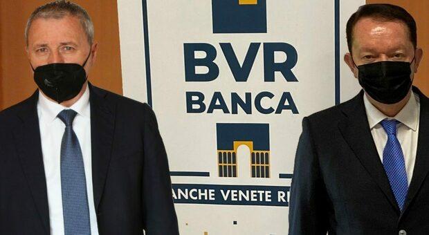 Maurizio Salomoni Rigon e l'ex presidente della Cassa Rurale ed Artigiana di Vestenanova Edo Dalla Verde