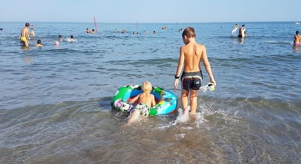 La spiaggia al Lido di Venezia