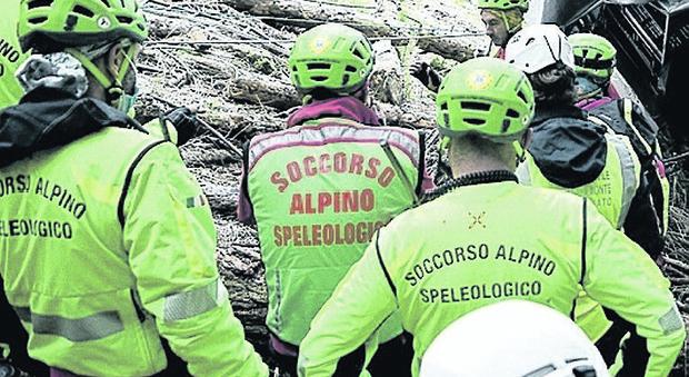 Intervento del soccorso alpino nell'Agordino