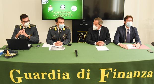 Guardia di Finanza illustra l'indagine Candidopoli