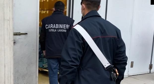 Controlli dei carabinieri sui luoghi di lavoro