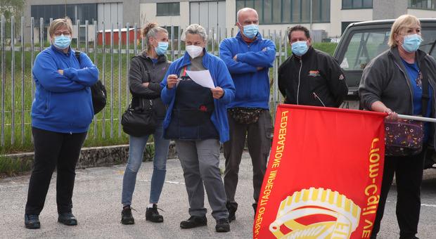 I lavoratori dello stabilimento Acc di Mel