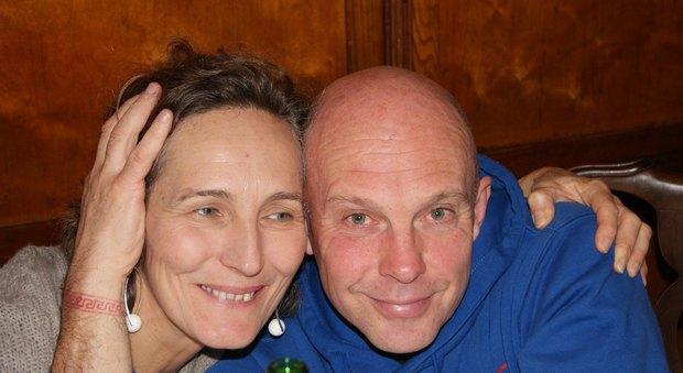 Cinzia Pistore con il marito Carlo Caldon