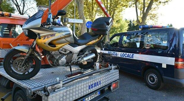 Un incidente rilevato dalla Polizia locale di Padova