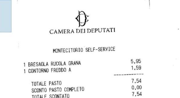 Primo secondo contorno e frutta solo 5 euro il pranzo for Dipendenti camera dei deputati