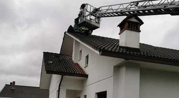 Fulmine si schianta sulla condotta del gas: incendio a Belluno. Piante giù in Valdenogher.... - Il Gazzettino