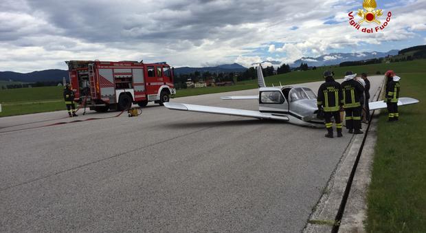 Il carrello non si apre, per il piper è necessario l'atterraggio di emergenza