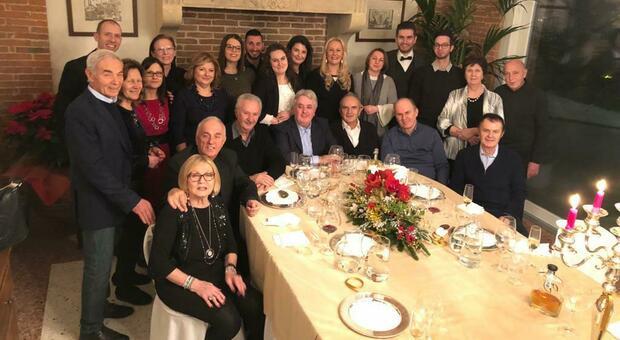 Giuliano Fosser con la sua famiglia