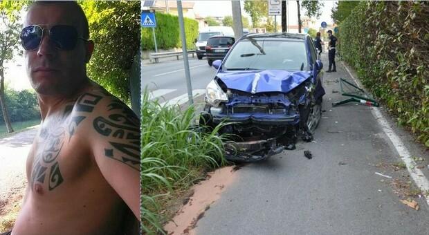 Gianluca Marras travolto in bici da un'auto